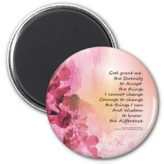 Serenity Prayer Quince Fence 3 Pink Magnet