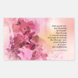 Serenity Prayer Quince Fence 3 Pink Sticker