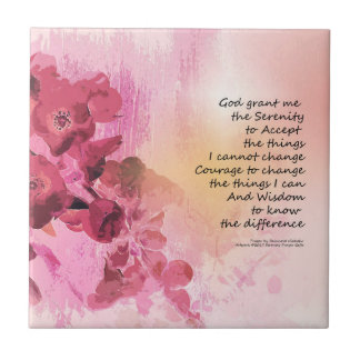 Serenity Prayer Quince Fence 3 Pink Tile