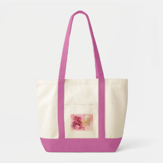 Serenity Prayer Quince Fence 3 Pink Tote Bag