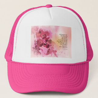 Serenity Prayer Quince Fence 3 Pink Trucker Hat