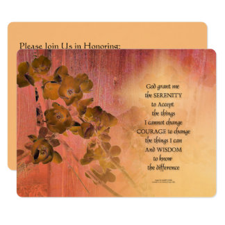 Serenity Prayer Quince Fence One Card