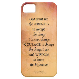 Serenity Prayer Quince Fence One Case For The iPhone 5