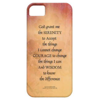 Serenity Prayer Quince Fence One iPhone 5 Covers