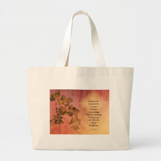 Serenity Prayer Quince Fence One Large Tote Bag