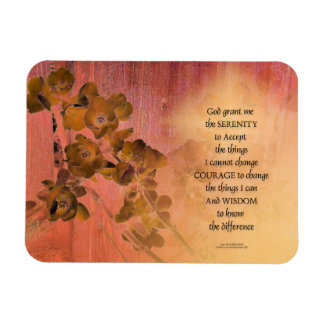 Serenity Prayer Quince Fence One Magnet