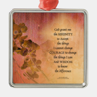 Serenity Prayer Quince Fence One Metal Ornament