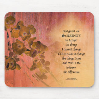 Serenity Prayer Quince Fence One Mouse Pad