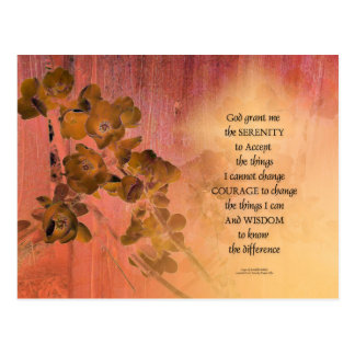 Serenity Prayer Quince Fence One Postcard