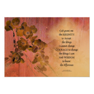 Serenity Prayer Quince Fence One Poster