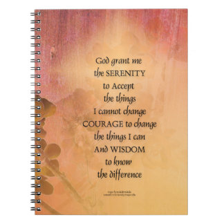 Serenity Prayer Quince Fence One Spiral Notebooks