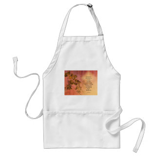 Serenity Prayer Quince Fence One Standard Apron