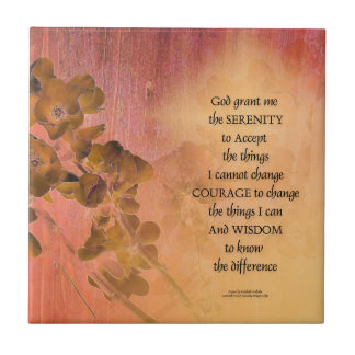 Serenity Prayer Quince Fence One Tile