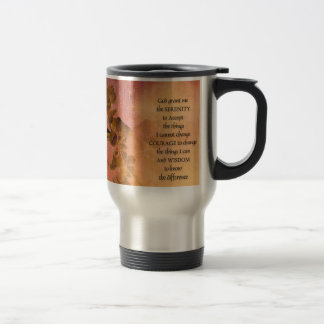 Serenity Prayer Quince Fence One Travel Mug