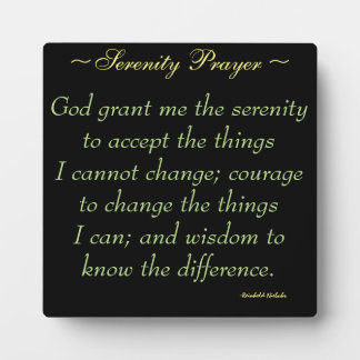 Serenity Prayer Quote Plaque