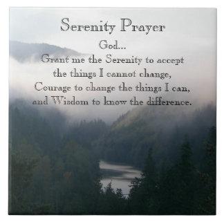 Serenity Prayer River Valley Photo Tile