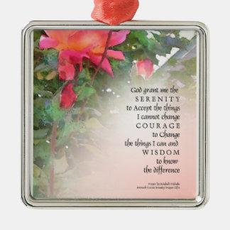 Serenity Prayer Rose & 2 Buds Ornament