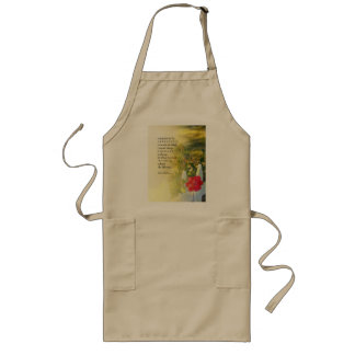 Serenity Prayer Rose and Fence Long Apron
