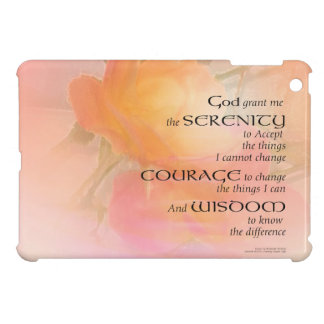 Serenity Prayer Rose Glow iPad Mini Cover