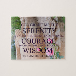 Serenity Prayer Roses Puzzle