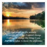 Serenity Prayer Scenic Canvas Poster