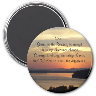 Serenity Prayer Seascape Sunset Photo Magnet