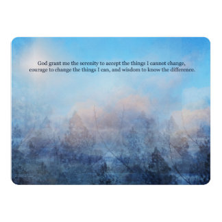Serenity Prayer Sky and Trees Abstract Card