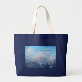 Serenity Prayer Sky and Trees Abstract Large Tote Bag