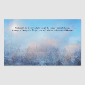 Serenity Prayer Sky and Trees Abstract Sticker