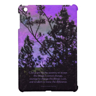 Serenity Prayer Sky and Trees Violet Cover For The iPad Mini
