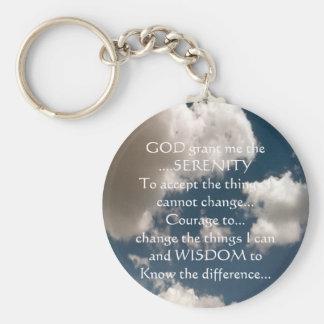 Serenity Prayer Summer Sky Keychain