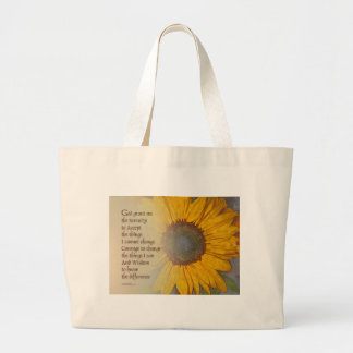 Serenity Prayer Sunflower Blend Large Tote Bag