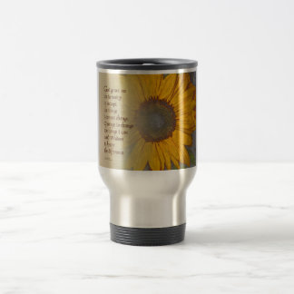 Serenity Prayer Sunflower Blend Travel Mug