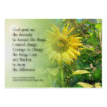 Serenity Prayer Sunflower Profile Card Business Cards
