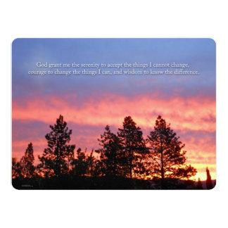 Serenity  Prayer Sunrise Blue Orange Card