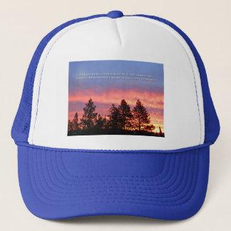 Serenity  Prayer Sunrise Blue Orange Trucker Hat