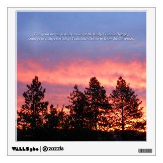Serenity Prayer Sunrise Blue Orange Wall Sticker