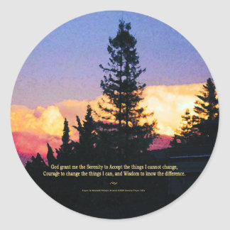 Serenity Prayer Sunset Sticker