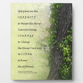 Serenity Prayer Tree and Gully Plaque