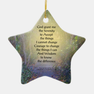 Serenity Prayer Tree Canopy Ceramic Ornament