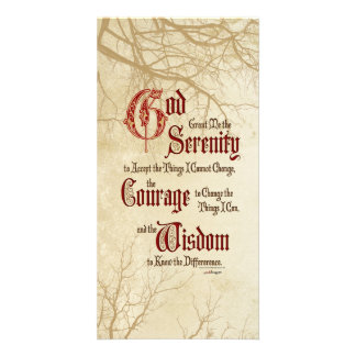 Serenity Prayer: Tree Limbs, Strength/Recovery Photo Card