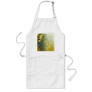 Serenity Prayer Tree Trunk and Yellow Leaves Apron