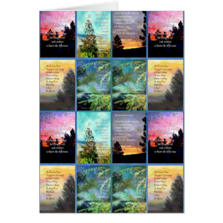 Serenity Prayer Trees Quilt Card