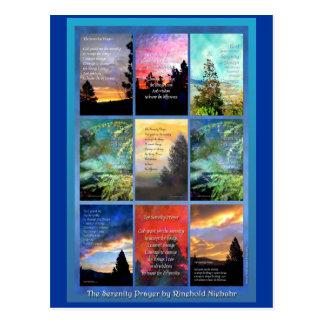 Serenity Prayer Trees Quilt Postcard