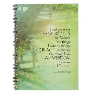 Serenity Prayer Trees, Water, Bridge Notebooks