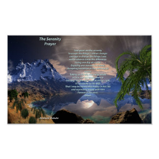 Serenity Prayer Value Poster Paper