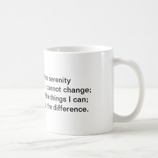 Serenity Prayer Verse 1 on standard white mug