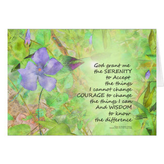 Serenity Prayer Vinca Glow Card