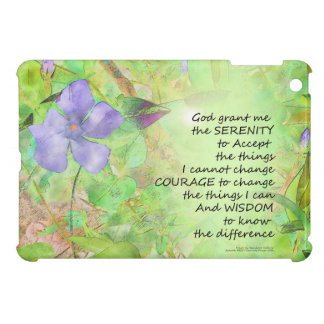 Serenity Prayer Vinca Glow Cover For The iPad Mini