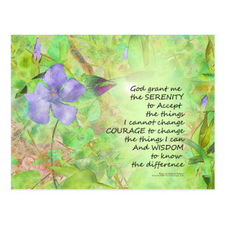 Serenity Prayer Vinca Glow Postcard